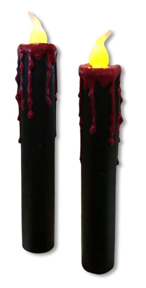 schwarze kerzen blutende led kerzen 2er set schwarze led kerzen mit