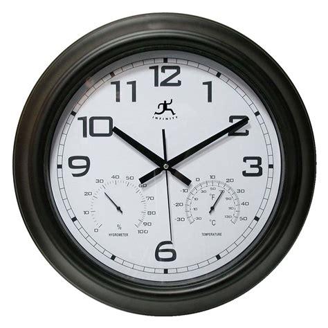 infinity instruments seer 18 in outdoor wall clock outdoor clocks at hayneedle