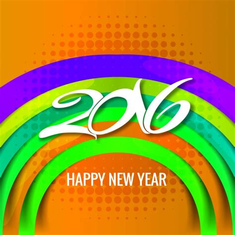 new year 2016 vector free colorful new year 2016 card vector free