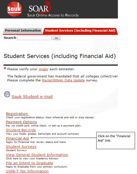 financial aid help desk financial aid application and links soar online help