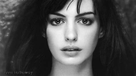 black and white wallpaper of actress beautiful women en wallpaper land
