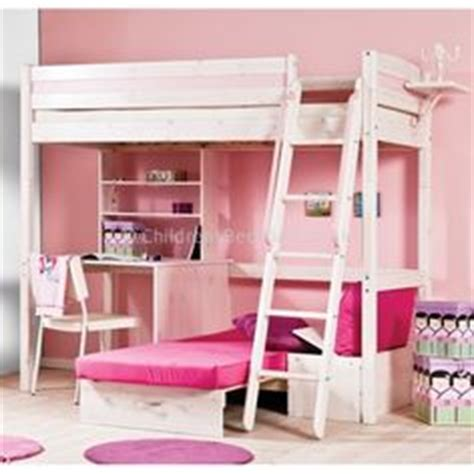 High Bunk Bed With Desk Underneath Loft Bed With Desk Stompa Casa 4 High Sleeper Bunk Bed With Pull Out Desk And Futon