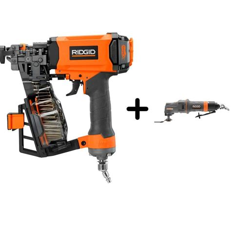 ridgid 1 3 4 in 15 roofing coil nailer and