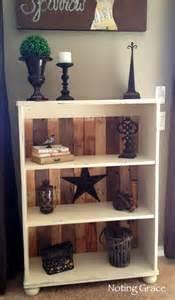 Home Decor Bookshelf Diy Pallet Bookcase Tutorial Home Decorating Guru