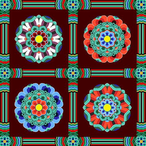 korean design korean traditional pattern design 단청 on behance