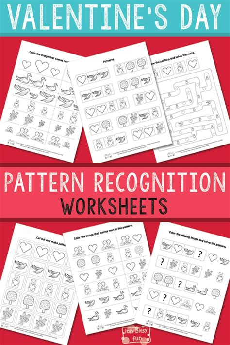 pattern recognition facebook valentine s day pattern recognition worksheets itsy