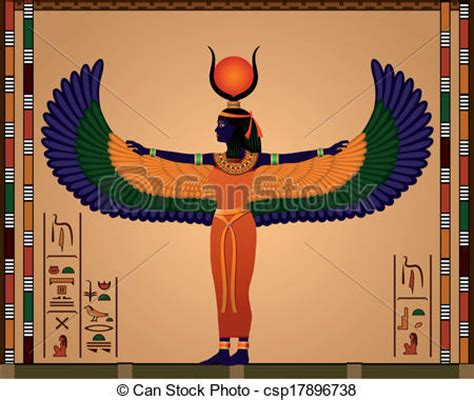 isis egyptian goddess clip art vectors of isis religion of ancient egypt isis the