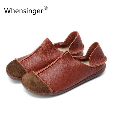 Whensinger 2017 Leather Shoes Handmade - aliexpress buy whensinger 2017 shoes summer