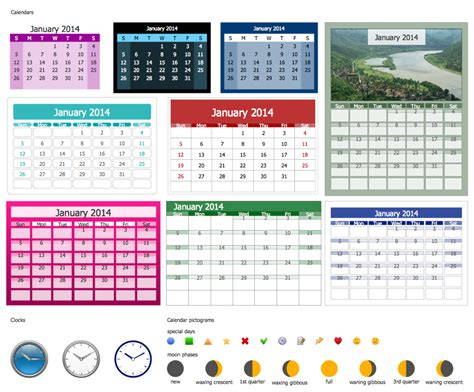 calendar design elements blank calendar
