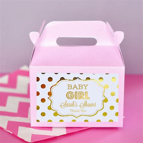 Pink Baby Shower Favors by Pink And Gold Baby Shower Favor Boxes Baby Shower