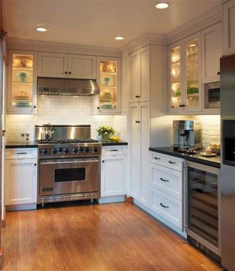 Small Kitchen Design Houzz Mill Park Traditional Kitchen San Francisco By Barbra Bright Design