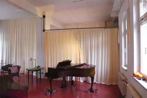 raumteiler vorhang vorhang als raumteiler k 220 hn design metall