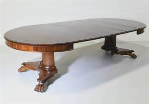 round empire center pedestal dining table with four