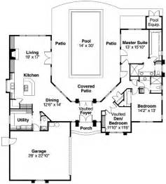 Florida House Plans With Pool Plan 72108da Wrap Around Central Courtyard With Large