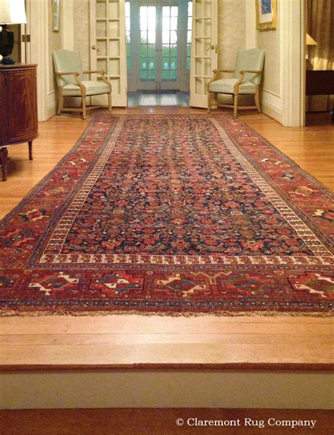 Entry Rugs by Antique Bijar Rug Embues Entry With Understated Artistry