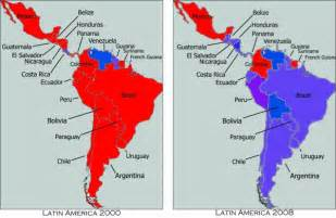 south america map labeled the blueing of the americas la cuadra