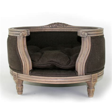 Pet Cribs the george luxury designer pet bed in chocolate cuckooland