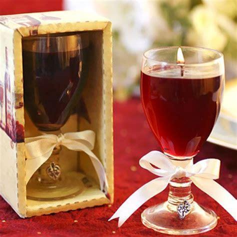 Merlot Wine Glass Gel Candle Favor