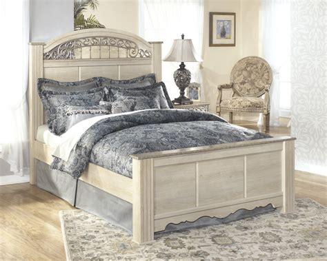 cream bedroom ashley furniture queen bedroom set ashley catalina queen poster bed b196 64 67 98 complete beds