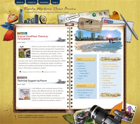 gold themes wordpress guidebook gold coast templatelite com