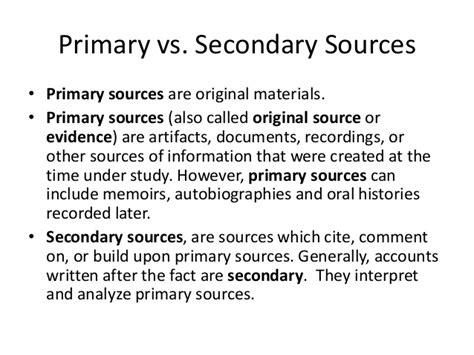 is a dissertation a primary source primary source documents