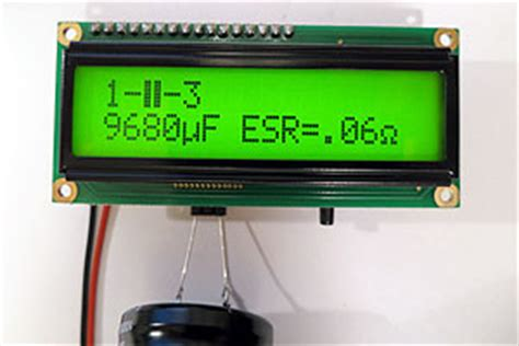 capacitor esr measurement methods esr meter capacitance inductance transistor tester