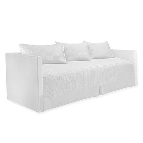 real simple coverlet real simple 174 dune daybed bedding set in white bed bath