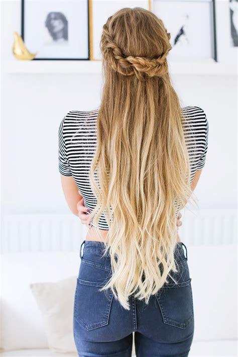 haircut for long hair upto waist fishtail braid half up hairstyle tutorial luxy hair