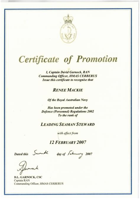 certificate of promotion template certificate of promotion to leading