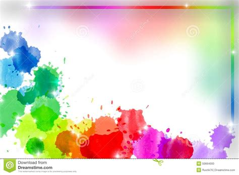 background untuk banner abstract rainbow watercolor frame stock illustration