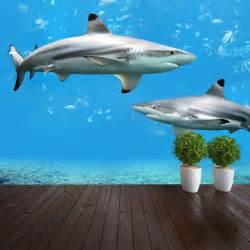 sharks underwater nature wallpaper mural design wm025 ebay shark porthole mural decal design wall decals primedecals