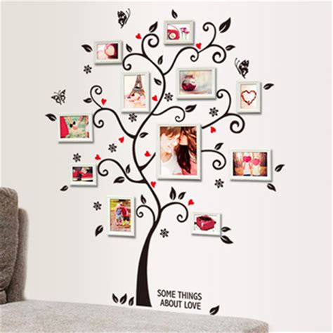 wall stickers home decor diy family photo frame tree wall sticker home decor living