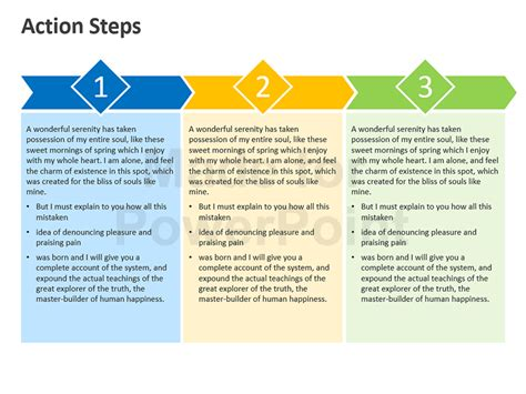 action steps editable powerpoint template