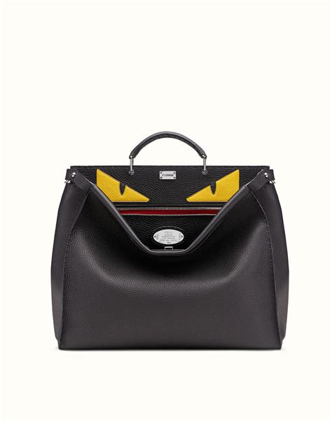 Fendi Bags by In Black Leather Selleria Peekaboo Fendi