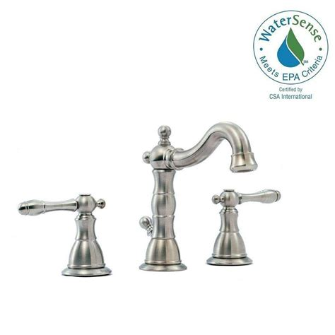 glacier bay lyndhurst bathroom faucet glacier bay lyndhurst 8 in widespread 2 handle high arc bathroom faucet in brushed