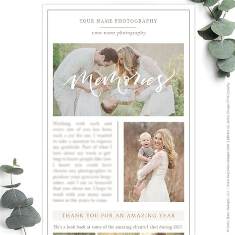 photography newsletter template photography email newsletter template year in review