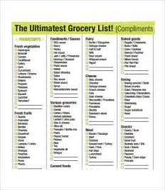 free printable grocery shopping list template printable grocery list template 7 free pdf documents