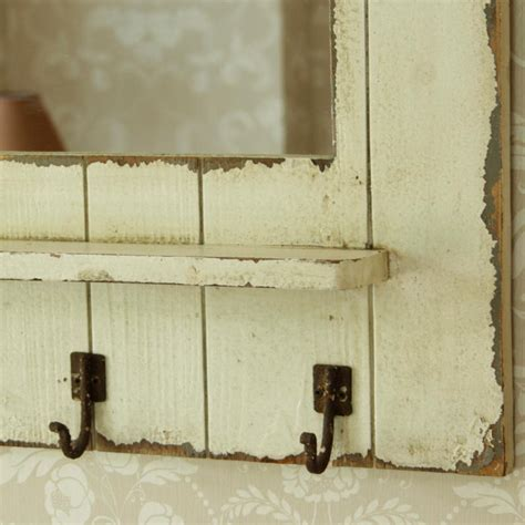Cottage Style Mirrors by Heavily Distressed Farmhouse Cottage Style Slatted Mirror