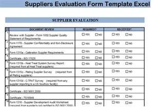 vendor qualification form template suppliers evaluation form template excel projectemplates