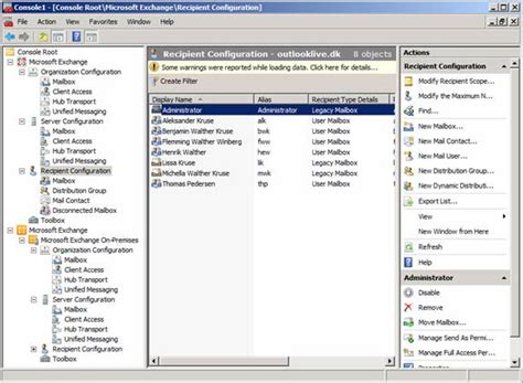 exchange management console exchange 2010 management architecture using a single