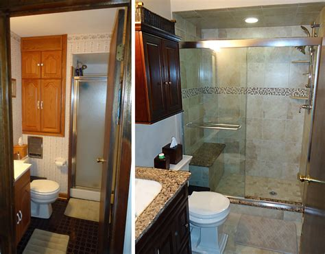 remodeled bathrooms before and after before and after bathroom remodels pictures gallery of