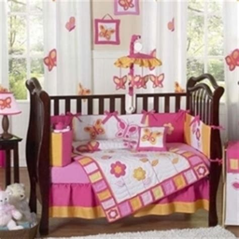 Butterfly Baby Bedding Pink And Brown Butterfly Crib Bedding