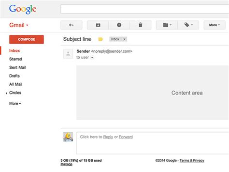 Gmail Ui Psd Template Freebiesbug Gmail Template Emails