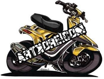 Stickers Pas Cher 2199 by Mbk Booster Spirit Black Edition