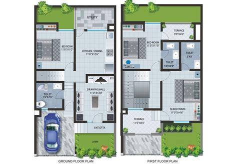 row house plans home building plans