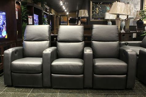 sleek charcoal grey theater seating houston tx