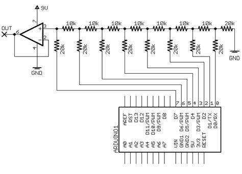 resistor ladder dac arduino arduino dac resistor ladder best image voixmag