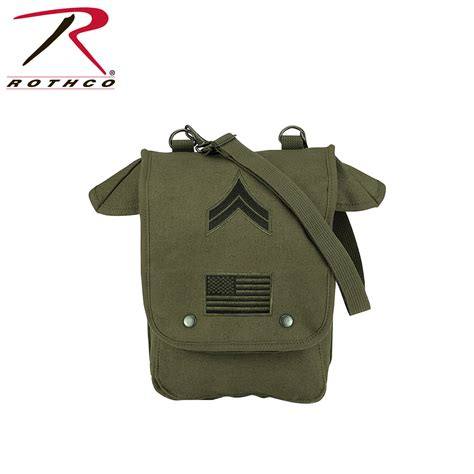 vintage us canvas map shoulder bag rothco canvas map shoulder bag w patches