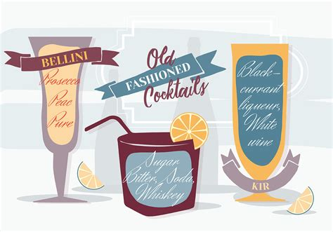 old fashioned cocktail clipart free various old fashioned cocktails vector background