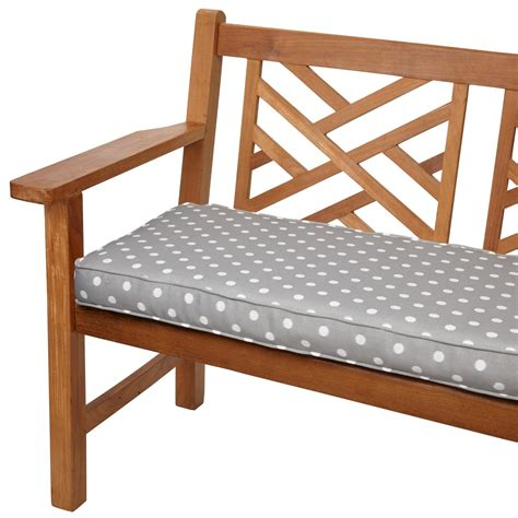 Amazon Com Mozaic Sabrina Corded Indoor Outdoor Bench Cushion 60 Inch Grey Dots
